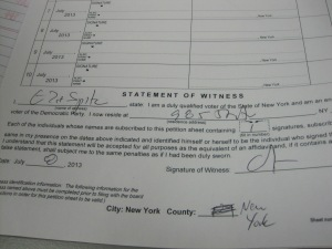 Spitzer witnessed some of his own signatures.