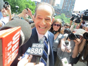 Eliot Spitzer at his first campaign experience. (Photo: Jill Colvin)