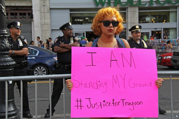 Kayla Rivera at the 'Justice for Trayvon' rally at Union Square (Órla Ryan).