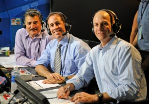 Jerry Seinfeld calls a Mets game with Keith Hernandez and Gary Cohen.
