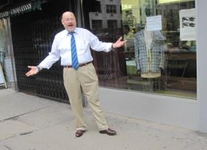 Joe Lhota campaigning on the Upper East Side
