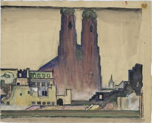 'Frauenkirche, Munich' (1911) by Le Corbusier. (Courtesy MoMA)