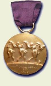 The medal. (Courtesy NEA/Wikimedia)