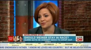 Christine Quinn on CNN this morning.