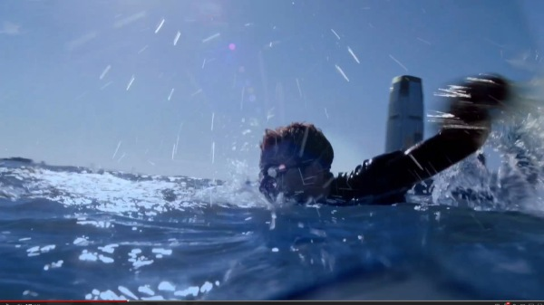 Studmuffin: The candidate's first ad featured the triathlete swimming the Hudson.