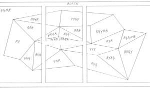 Sol LeWitt, Wall Drawing #564 (diagram detail), 1988. (Courtesy Paula Cooper Gallery)