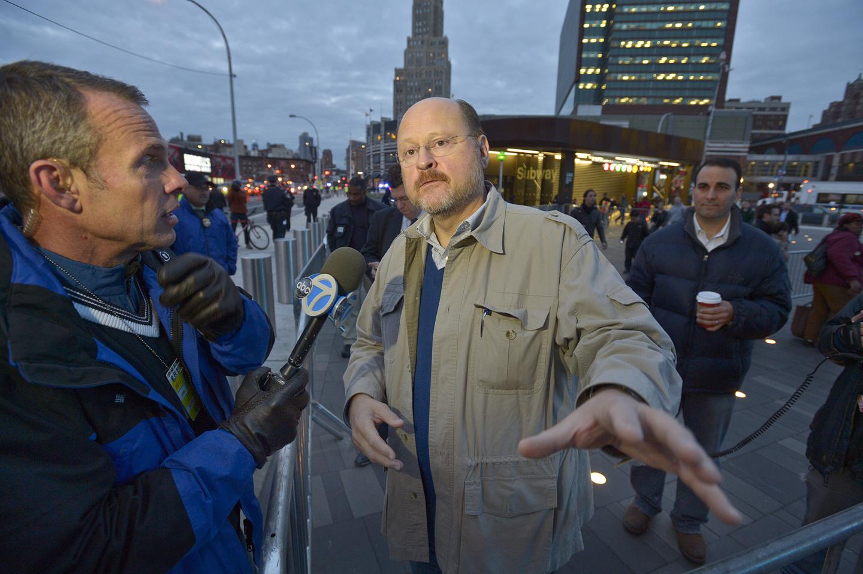 Then-MTA Chair Joe Lhota after Hurricane Sandy.