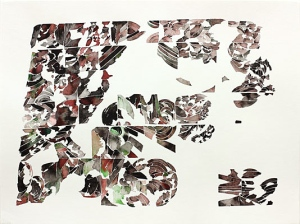 Vlahovich's 'Red & Green & Black,' 2010. (Courtesy the artist and Feature Inc.)
