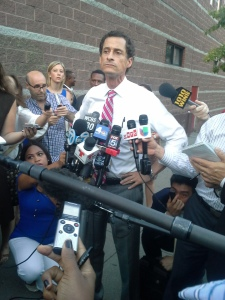 Anthony Weiner this evening in the Bronx.