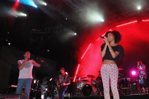 Kish performing with Childish Gambino in Prospect Park in June 2012. (Getty)