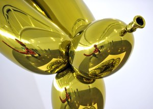 A detail of a Koons at Gagosian New York. (Timothy A. Clary/AFP/Getty Images)