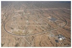 The Center For Land Use Interpretation, 'Autotechnogeoglyphics: Vehicular Test Tracks in America,' 2006. (Courtesy CFLUI and Matthew Marks Gallery)