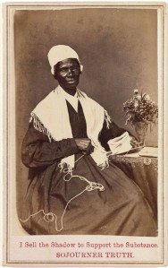 """'Sojourner Truth, """"I Sell the Shadow to Support the Substance,""""' 1864, by an unknown photographer. (©Metropolitan Museum of Art, New York)"""