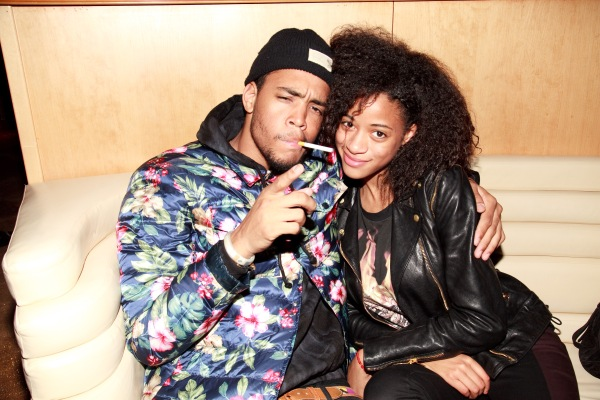 Kilo Kish and Phil Annand at the Paper Beautiful People Party in April.