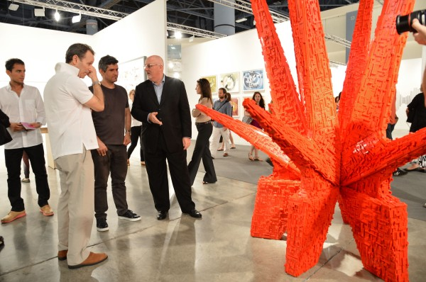 Would it look good over the couch? The Sean Kelly Gallery shows at Art Basel.  (Photo: Getty)