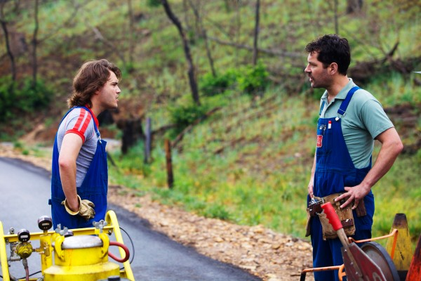 Emile Hirsch and Paul Rudd are alone together in the great outdoors in Prince Avalanche.