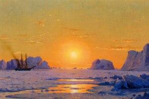 William J. Bradford, 'Off the Greenland Coast Under the Midnight Sun,' 1873. (Courtesy NBMAA/ArtDaily)