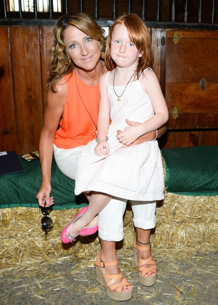 Edie Falco and daughter Macy, catwalker. (Photo: BFAnyc.com)