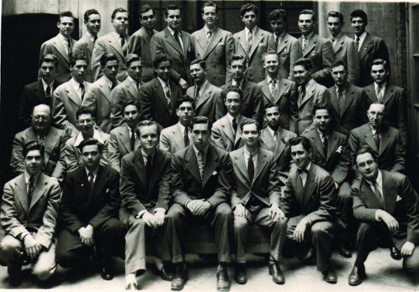 Truman Capote, in 1943, center left. (Courtesy the Dwight School.)