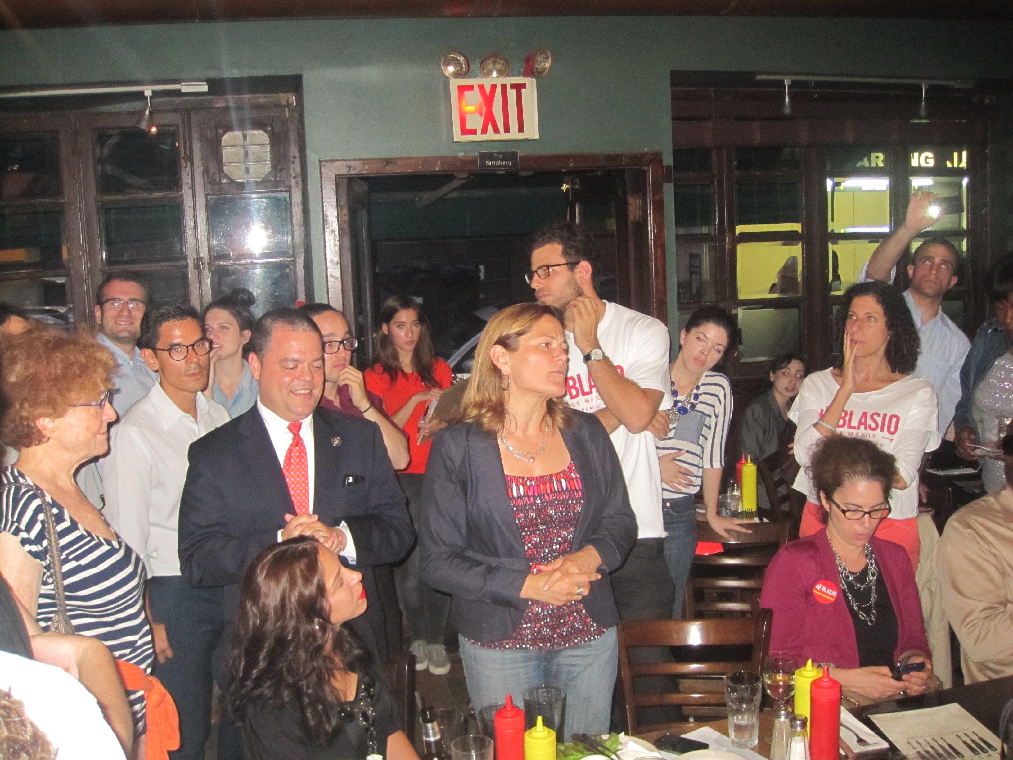 City Councilwoman Melissa Mark-Viverito at the Bill de Blasio watch party.