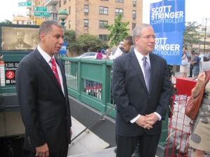Paterson and Stringer campaigning today.