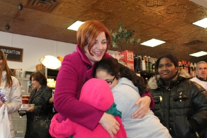 Christine Quinn during her campaign kick-off event.