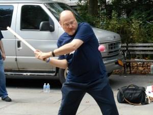 Joe Lhota hits a ball. More here.