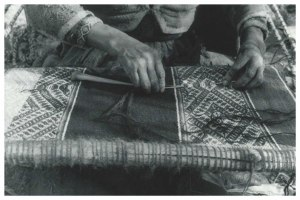 John Cohen, 'Inserting Final Passes of Welt Using a Needle,' 1956. (Courtesy Matthew Marks Gallery)
