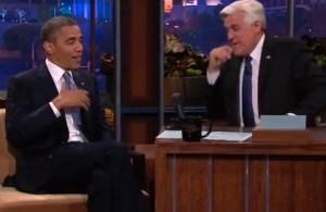Barack Obama and Jay Leno (NBC)
