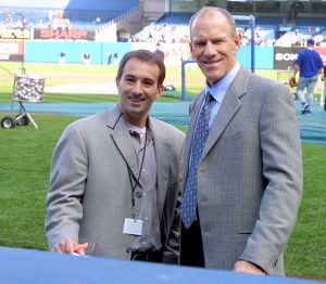Josh Lewin with former Met Tom Grieve. (Photo: Wikimedia Commons)