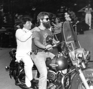 Marty Markowitz arriving at his Seaside Summer Concert Series in 1983. (Photo: Markowitz Office)