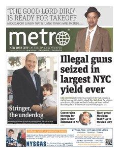 Scott Stringer on the cover of today's Metro New York. (Photo: Newseum)