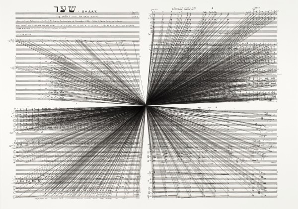 Marco Fusinato, 'Mass Black Implosion (Shaar, Iannis Xenakis),' 2012. (Courtesy the artist and Anna Schwartz Gallery)