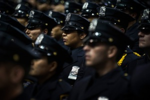 An NYPD academy graduation. (Photo: Getty)