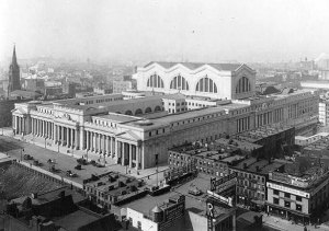 The neighborhood around the original Penn Station hasn't advanced much since it was known as the Tenderloin.