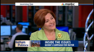 Quinn during a recent appearance on MSNBC.