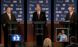 John Catsimatidis, Joe Lhota and George McDonald at tonight's debate.