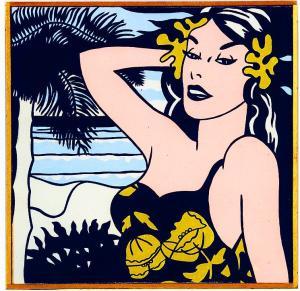 """'Roy Lichtenstein """"Aloha. 1962,""""' (1968) by Pettibone. (Courtesy the artist and David Nolan Gallery)"""