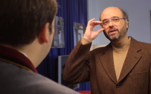 Mr. Adsit as a prankster physicist in a comedy short with John Lutz. (YouTube)