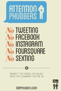 Srsly no sexting! (Photo: Stopphubbing.com)
