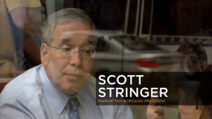 A scene in Scott Stringer's new ad.