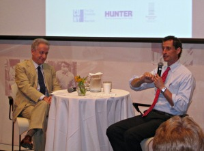 Anthony Weiner speaking during an education event this morning.