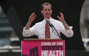 Anthony speaks at the 2011 Planned Parenthood Stand Up For Women Health Rally.
