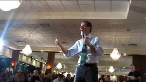 Anthony Weiner in the Rockaways.