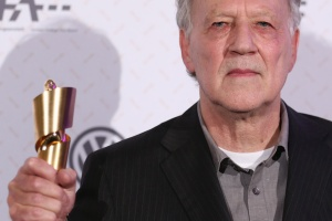 Werner Herzog with what may or may not be a large salt shaker. (Getty)