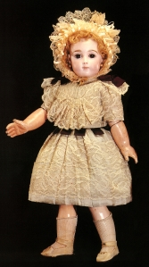 One of the two antique French dolls that Clark bought at auction on a single day in 1993. She paid nearly $30,000 for the pair, but had authorized her attorney to bid up to $135,000.