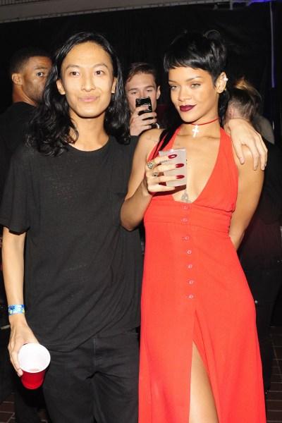 Alexander Wang and Rihanna after-partying. (Photo: Patrick McMullan)