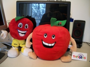 """Mr. Mercier's toy is on the left and the Toy """"R"""" Us version is on the right. (Photo: Steven Mercier)"""
