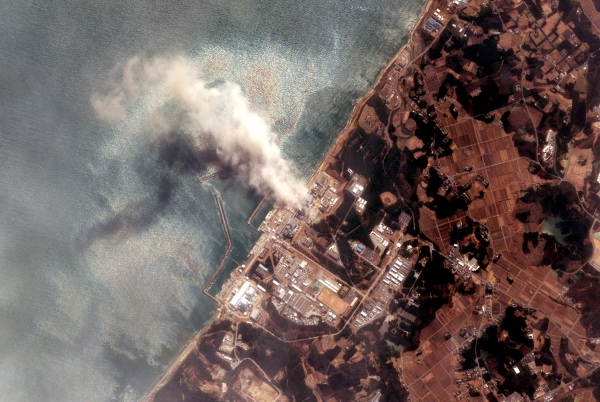 A satellite of the Fukushima nuclear power plant after it was damaged by an earthquake and tsunami. (Photo: Getty)