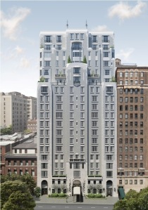 The condo tower is rising on the site of the former Hunter College School of Social Work.